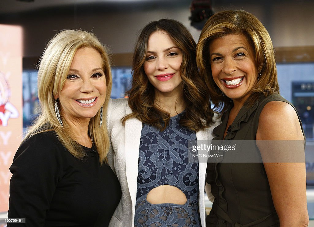 Kathie Lee Gifford, Katharine McPhee and Hoda Kotb appear on NBC News' 'Today' show --