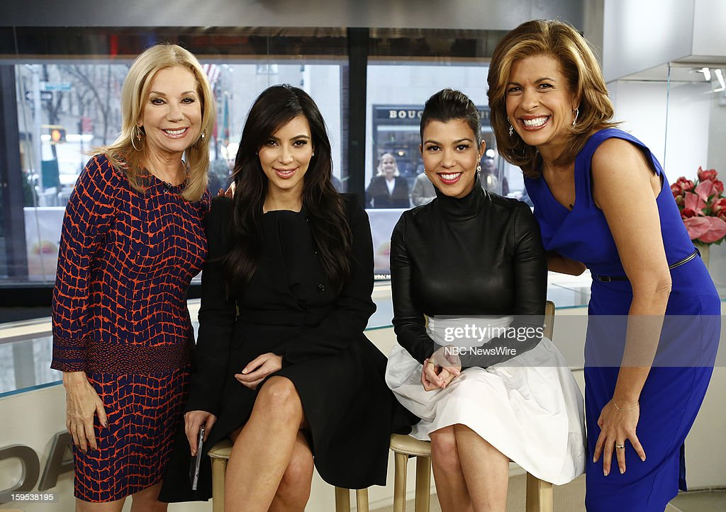 Kathie Lee Gifford, Kim Kardashian, Kourtney Kardashian and Hoda Kotb appear on NBC News' 'Today' show --