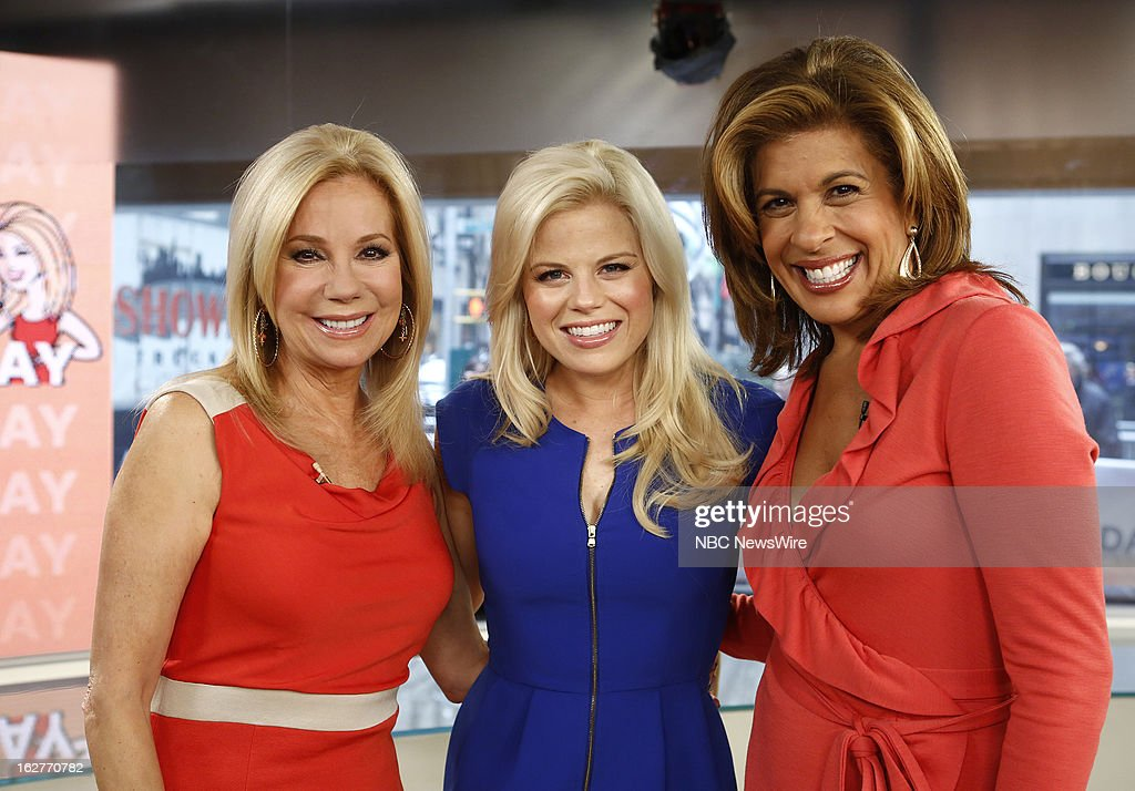 Kathie Lee Gifford, Megan Hilty and Hoda Kotb appear on NBC News' 'Today' show --