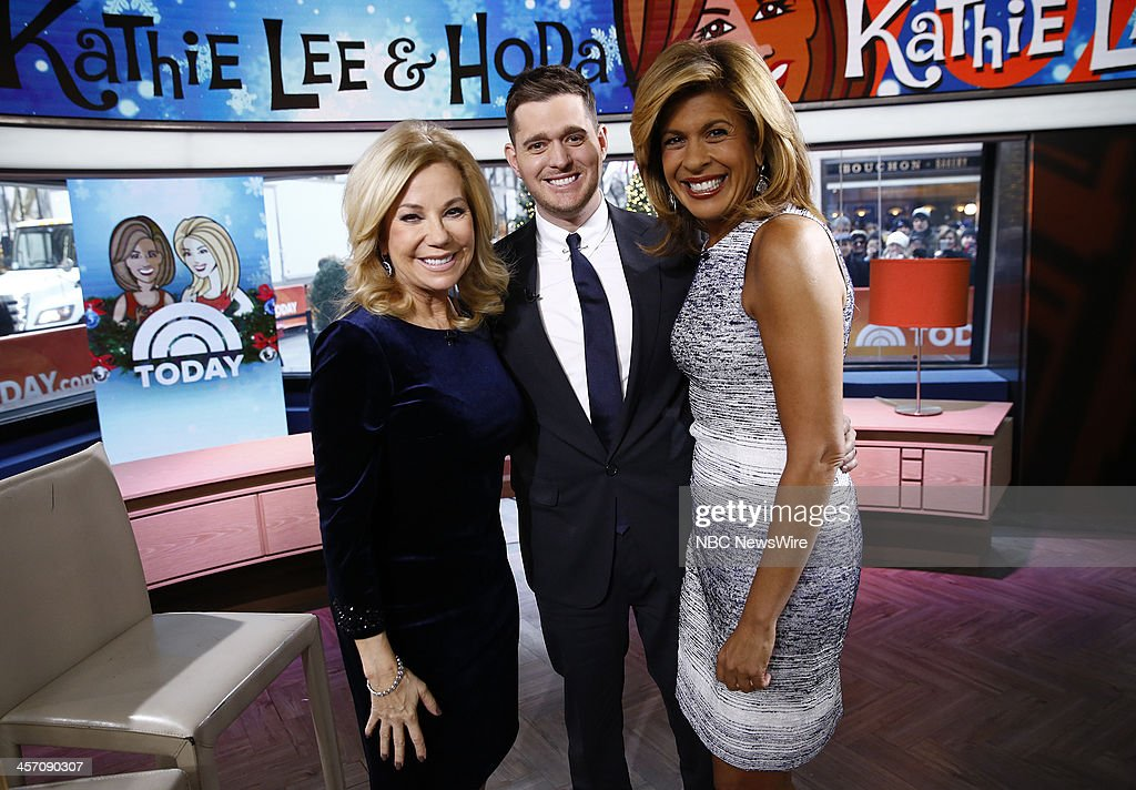<a gi-track='captionPersonalityLinkClicked' href=/galleries/search?phrase=Kathie+Lee+Gifford&family=editorial&specificpeople=203269 ng-click='$event.stopPropagation()'>Kathie Lee Gifford</a>, <a gi-track='captionPersonalityLinkClicked' href=/galleries/search?phrase=Michael+Buble&family=editorial&specificpeople=215140 ng-click='$event.stopPropagation()'>Michael Buble</a> and <a gi-track='captionPersonalityLinkClicked' href=/galleries/search?phrase=Hoda+Kotb&family=editorial&specificpeople=2338013 ng-click='$event.stopPropagation()'>Hoda Kotb</a> appear on NBC News' 'Today' show --