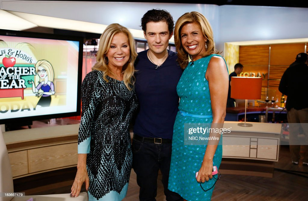Kathie Lee Gifford Orlando Bloom and Hoda Kotb appear on NBC News' 'Today' show