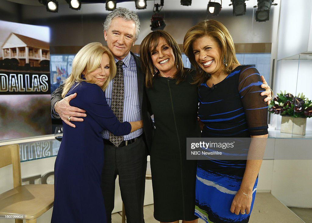 Kathie Lee Gifford, Patrick Duffy, Linda Gray and Hoda Kotb appear on NBC News' 'Today' show --