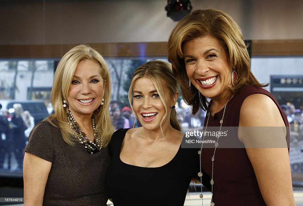 Kathie Lee Giford, Carmen Electra amd <a gi-track='captionPersonalityLinkClicked' href=/galleries/search?phrase=Hoda+Kotb&family=editorial&specificpeople=2338013 ng-click='$event.stopPropagation()'>Hoda Kotb</a> appear on NBC News' 'Today' show --