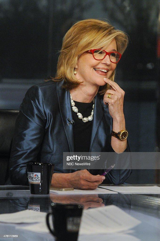 Kathleen Parker, Columnist, Washington Post, appears on 'Meet the Press' in Washington, D.C., Sunday, March 2, 2014.