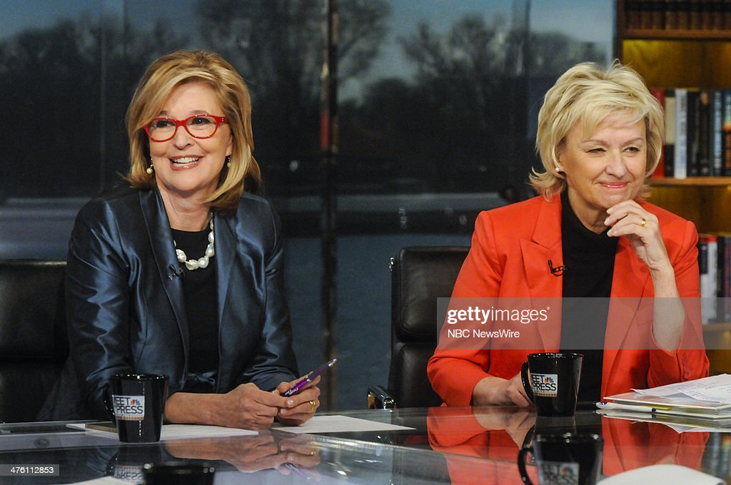 Kathleen Parker, Columnist, Washington Post, left, and Tina Brown, Founder of Women in the World,' right, appear on 'Meet the Press' in Washington, D.C., Sunday, March 2, 2014.