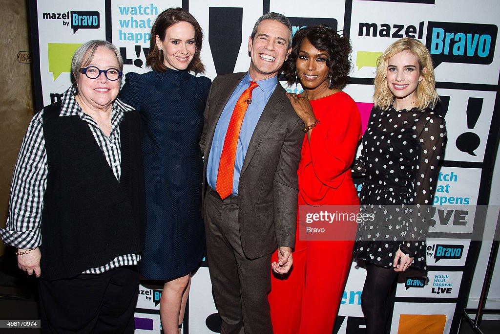 Kathy Bates Sarah Paulson Andy Cohen Angela Bassett and Emma Roberts