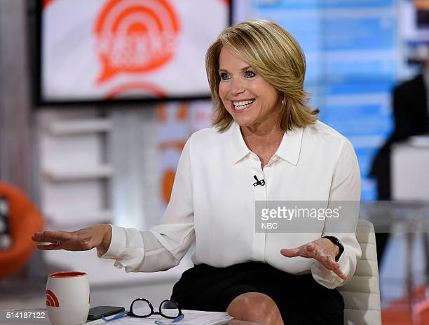 Katie Couric appears on the 'Today' show on Monday March 7 2016 in New York