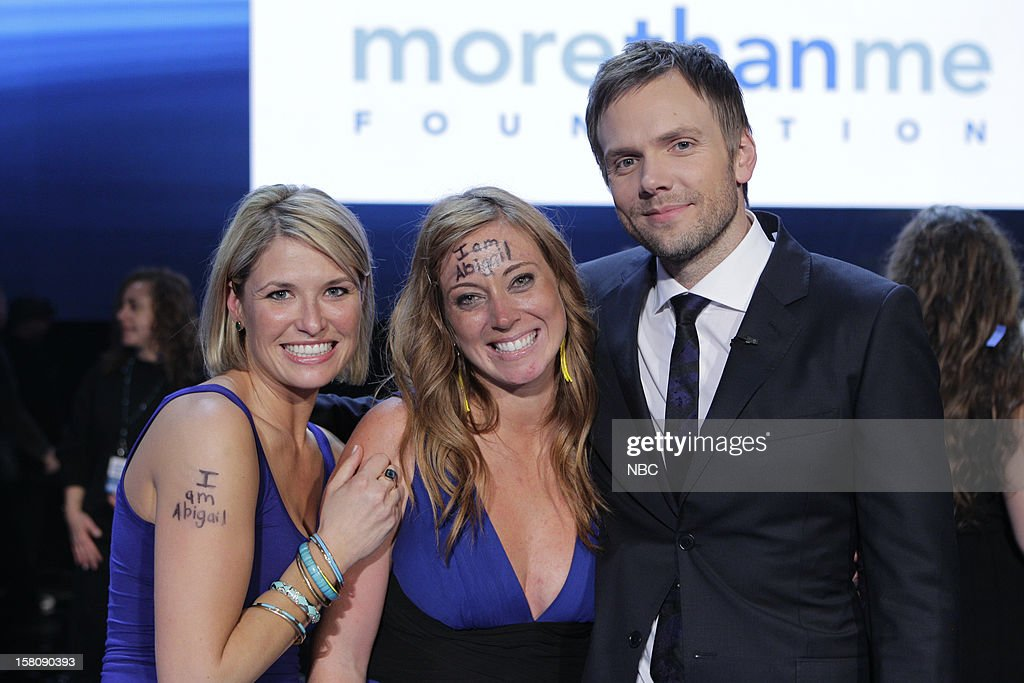 Katie Meyler (center), More Than Me Foundation, Joel McHale --