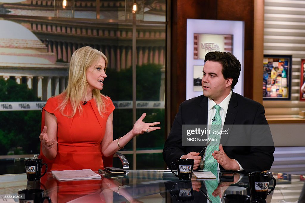 Kellyanne Conway, Republican Strategist & Pollster, left, and Robert Costa, National Political Reporter, The Washington Post, right, appear on 'Meet the Press' in Washington, D.C., Sunday May 29, 2016.