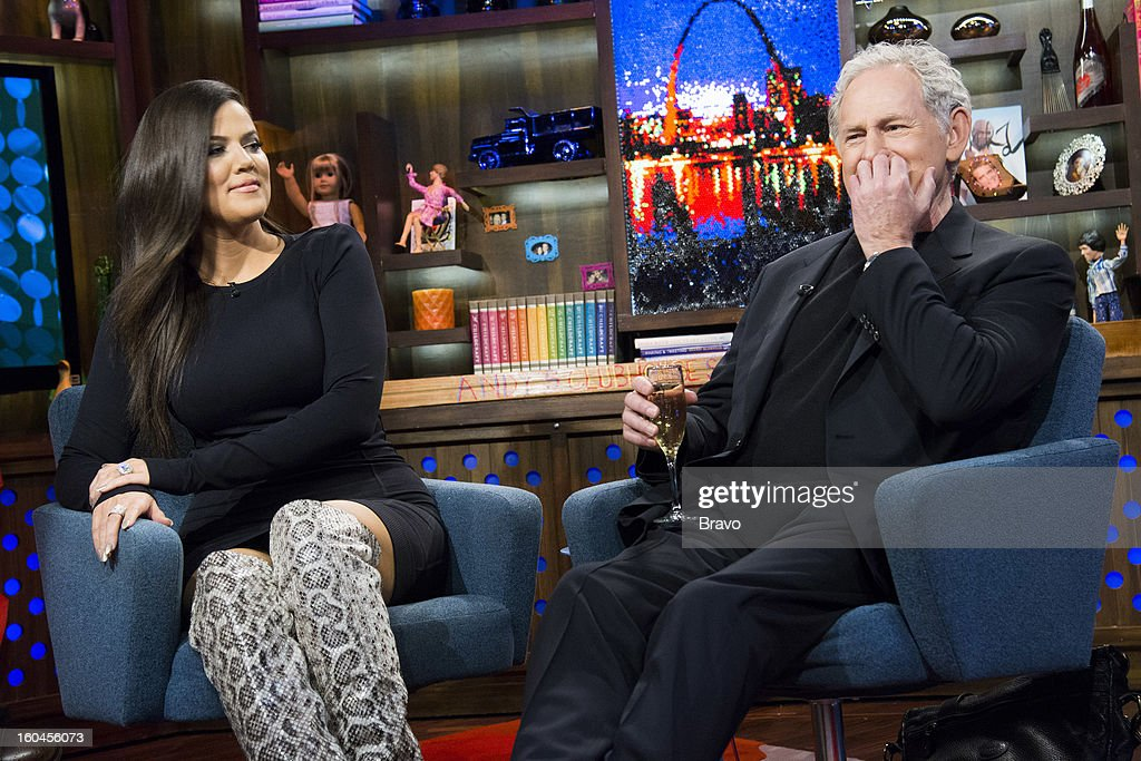 Khloe Kardashian and Victor Garber -- Photo by: Charles Sykes/Bravo/NBCU Photo Bank via Getty Images