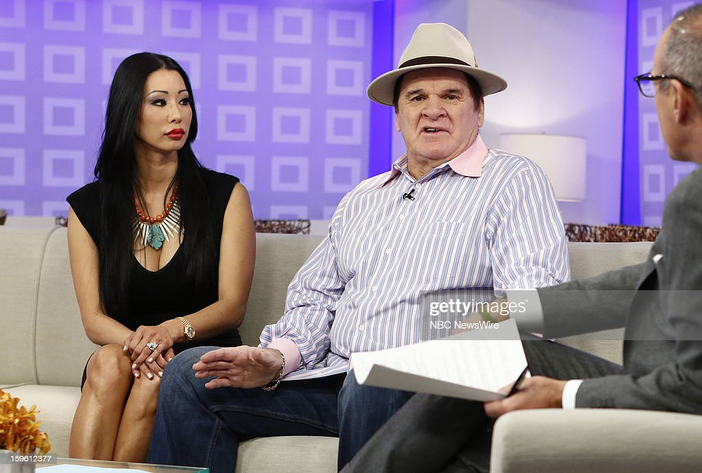 Kiana Kim and <a gi-track='captionPersonalityLinkClicked' href=/galleries/search?phrase=Pete+Rose&family=editorial&specificpeople=202020 ng-click='$event.stopPropagation()'>Pete Rose</a> appear on NBC News' 'Today' show --
