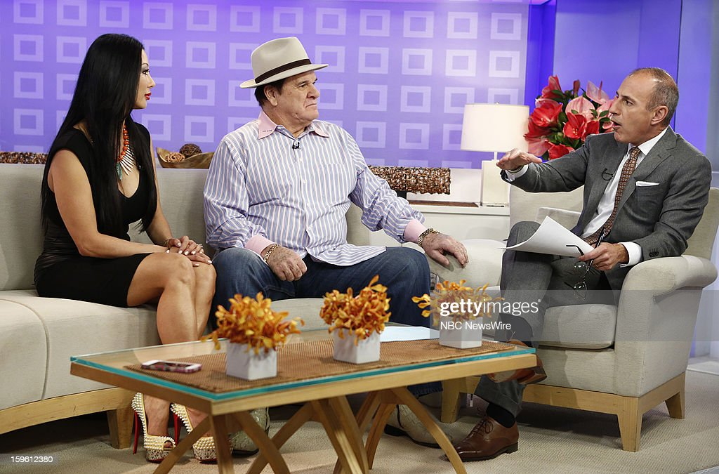 Kiana Kim, Pete Rose and Matt Lauer appear on NBC News' 'Today' show --