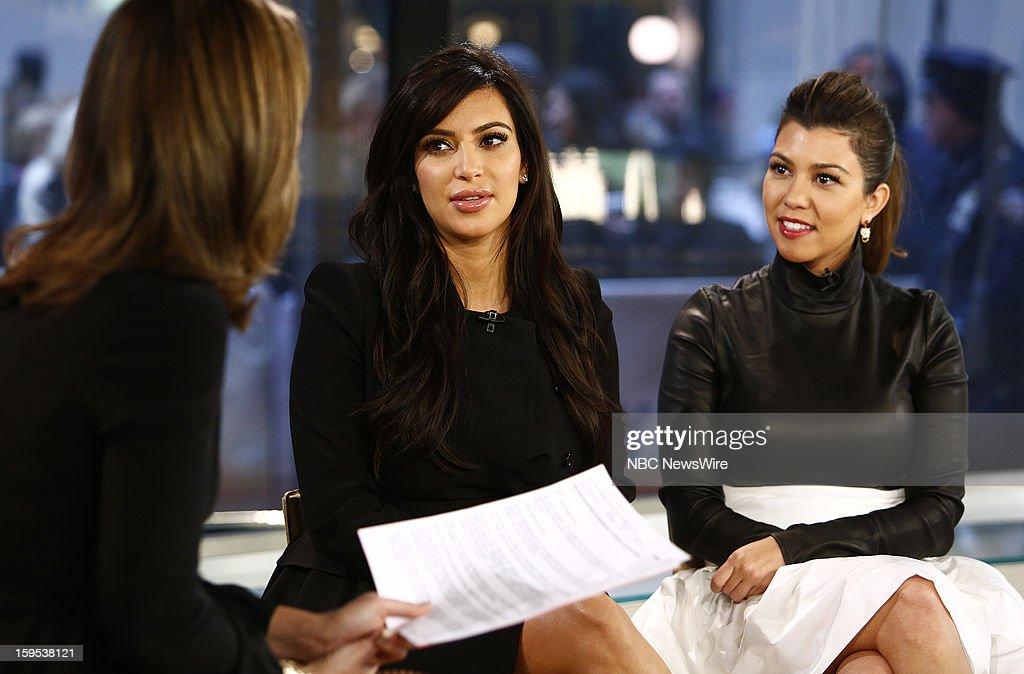Kim Kardashian and Kourtney Kardashian appear on NBC News' 'Today' show --