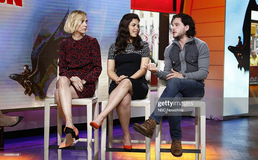Kristen Wiig, America Ferrera and Kit Harrington appear on NBC News' 'Today' show on June 13, 2014 --
