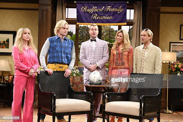 Laraine Newman Bill Hader Taran Killam Kristen Wiig Fred Armisen during The Californians on February 15 2015