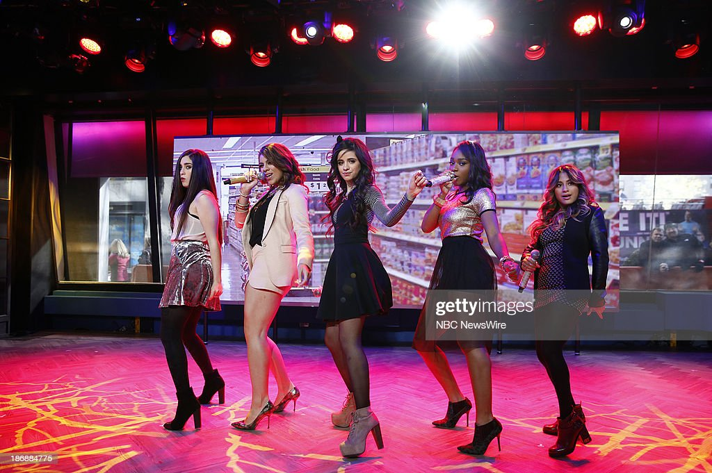 Lauren Jauregui, Dinah Jane Hansen, Camila Cabello, Normani Kordei Hamilton, Ally Brooke of musical guest Fifth Harmony appears on NBC News' 'Today' show on November 4, 2013 --