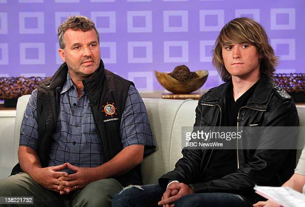 Laurence Sunderland and Zac Sunderland appear on NBC News' 'Today' show