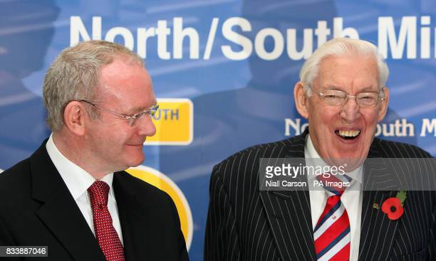 Pictured left to right Northern Ireland's Deputy First Minister Martin McGuinness and First Minister Ian Paisley launching a new website...
