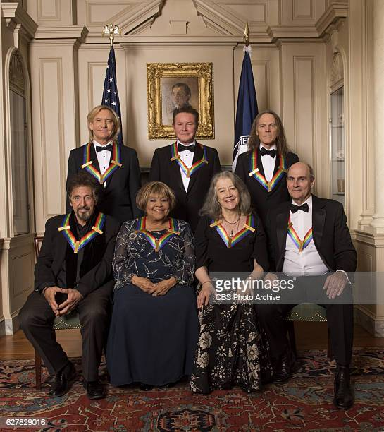 Pictured left to right Rock band the Eagles Joe Walsh Don Henley and Timothy Schmit screen and stage actor Al Pacino gospel and blues singer Mavis...