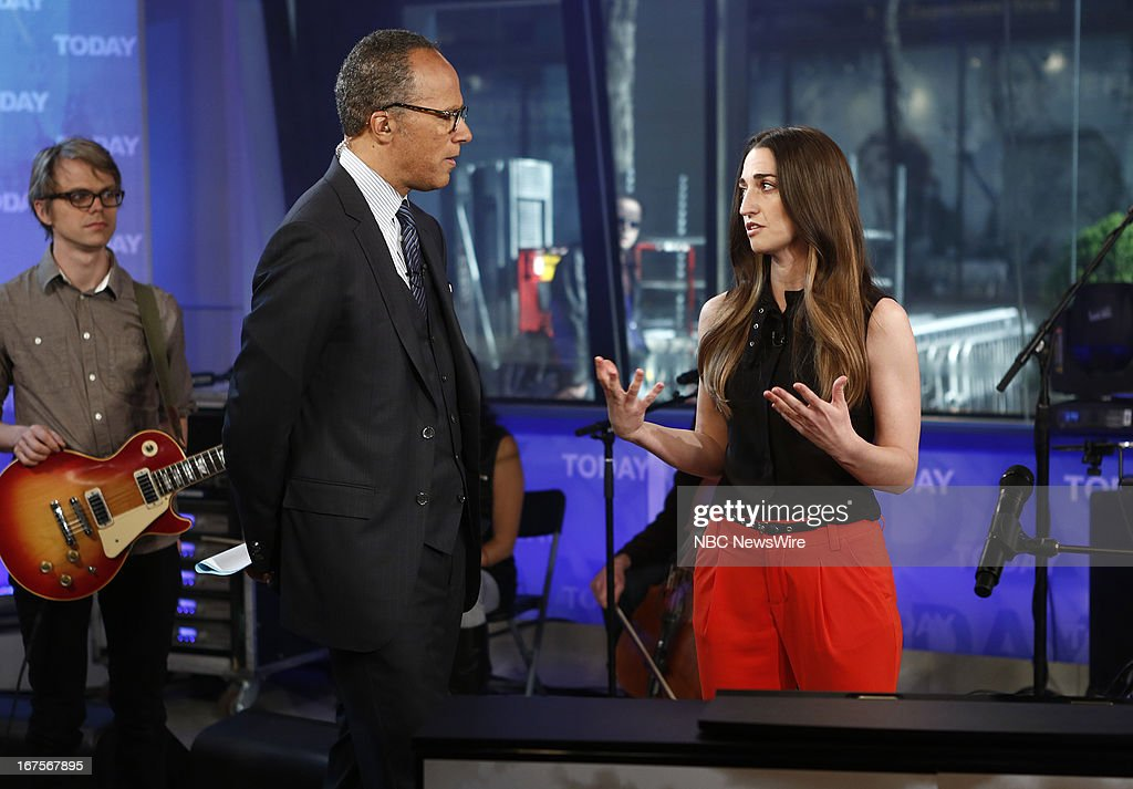 <a gi-track='captionPersonalityLinkClicked' href=/galleries/search?phrase=Lester+Holt&family=editorial&specificpeople=2983122 ng-click='$event.stopPropagation()'>Lester Holt</a> and <a gi-track='captionPersonalityLinkClicked' href=/galleries/search?phrase=Sara+Bareilles&family=editorial&specificpeople=4116387 ng-click='$event.stopPropagation()'>Sara Bareilles</a> appear on NBC News' 'Today' show --