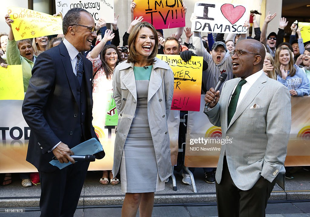 Lester Holt, Savannah Guthrie and Al Roker appear on NBC News' 'Today' show --