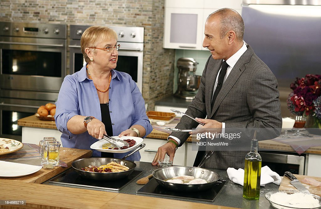 Lidia Bastianich and Matt Lauer appear on NBC News' 'Today' show --