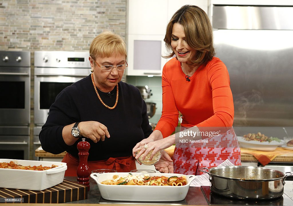 Lidia Bastianich and Savannah Guthrie appear on NBC News' 'Today' show --