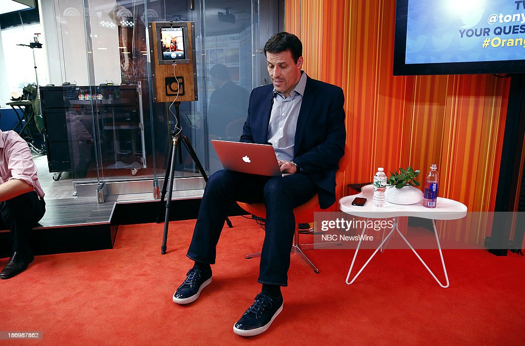 Life coach/author Tony Robbins appears on NBC News' 'Today' show on November 5, 2013 --