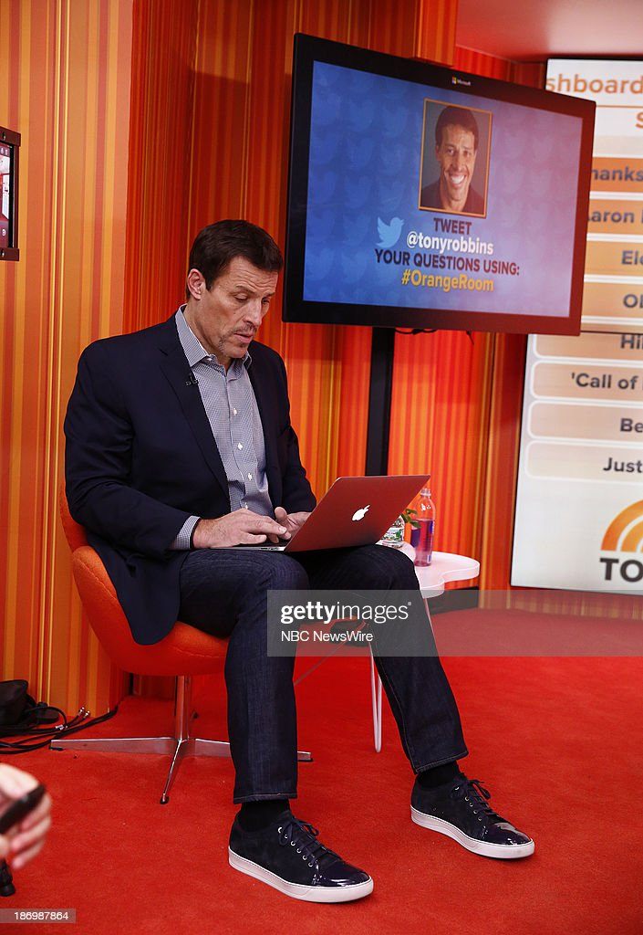 Life coach/author Tony Robbins appears on NBC News' 'Today' show on November 5, 2013 --