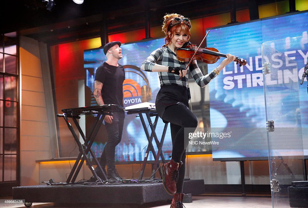 <a gi-track='captionPersonalityLinkClicked' href=/galleries/search?phrase=Lindsey+Stirling&family=editorial&specificpeople=9719845 ng-click='$event.stopPropagation()'>Lindsey Stirling</a> appears on NBC News' 'Today' show --