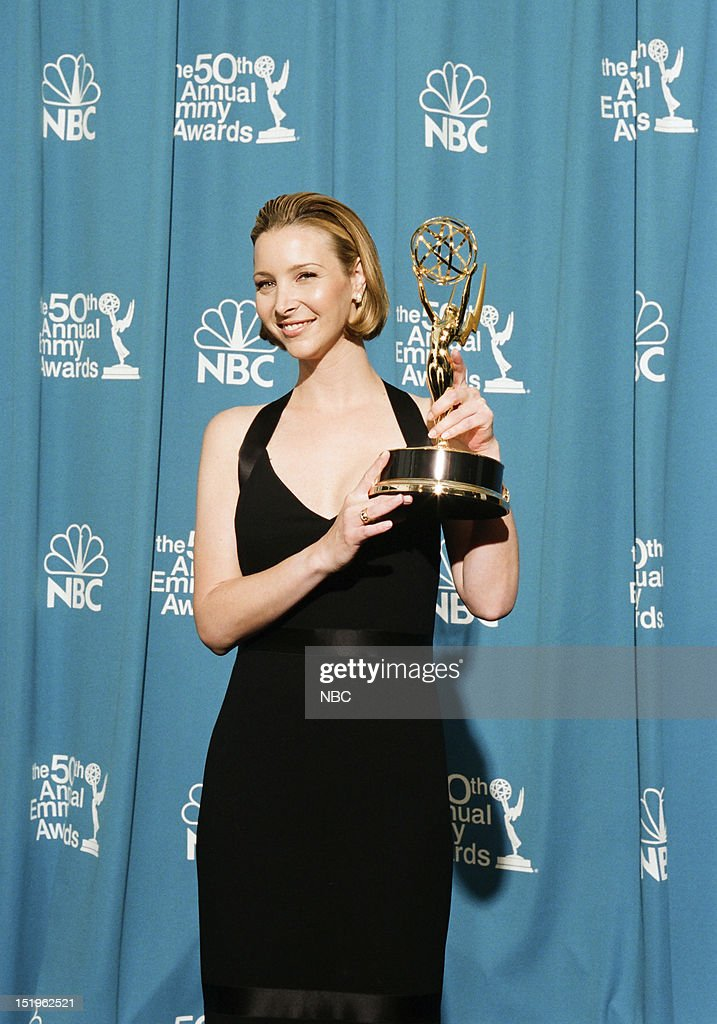 <a gi-track='captionPersonalityLinkClicked' href=/galleries/search?phrase=Lisa+Kudrow&family=editorial&specificpeople=202079 ng-click='$event.stopPropagation()'>Lisa Kudrow</a> winner of Outstanding Supporting Actress in a Comedy Series for 'Friends' during the 50th Annual Primetime Emmy Awards held at the Shrine Auditorium in Los Angeles, CA on September 13, 1998 --