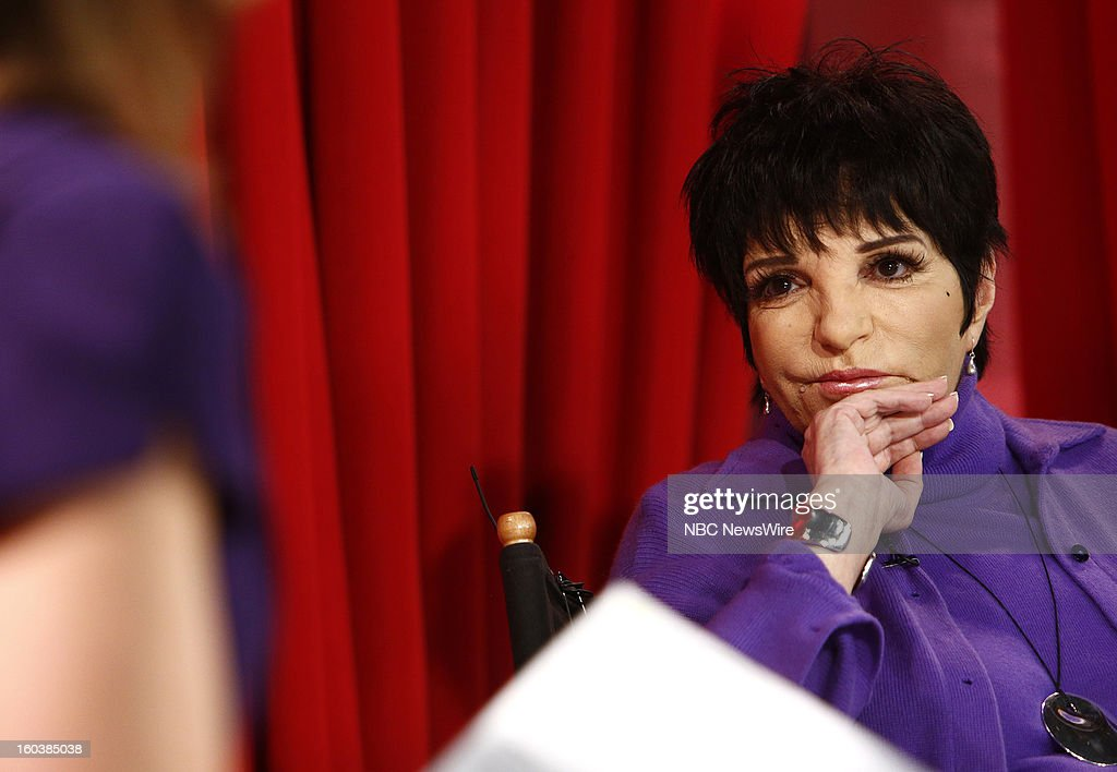 <a gi-track='captionPersonalityLinkClicked' href=/galleries/search?phrase=Liza+Minnelli&family=editorial&specificpeople=121547 ng-click='$event.stopPropagation()'>Liza Minnelli</a> appears on NBC News' 'Today' show --
