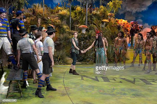 Lost Boys Allison Williams as Peter Pan Alanna Saunders as Tiger Lily Islanders