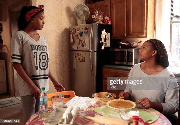 Pictured LR Amiyah Scott and Queen Latifah in the 'Infamous' episode of STAR airing Wednesday Feb 1 on FOX