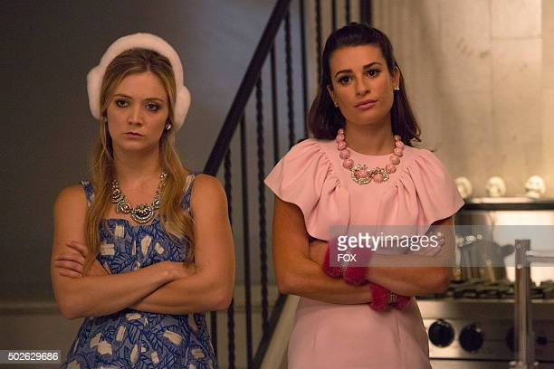 Pictured LR Billie Lourd as Chanel and Lea Michele as Hester in the 'Haunted House' episode of SCREAM QUEENS airing Tuesday Oct 6 on FOX