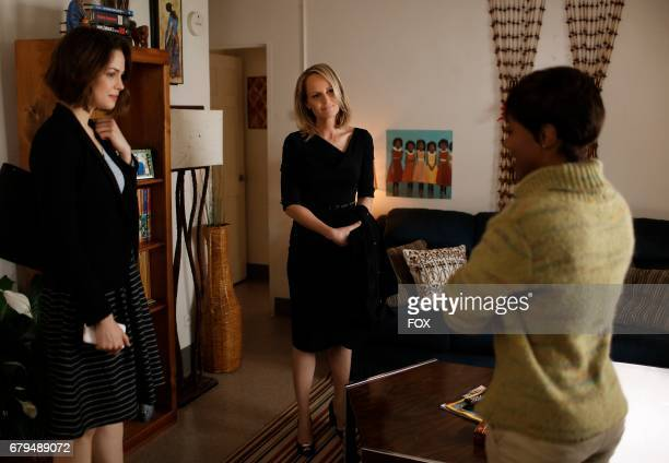 Pictured LR Conor Leslie Helen Hunt and DeWanda Wise in the 'Hour 3 Somebody's Son' episode of SHOTS FIRED airing Wednesday April 5 on FOX