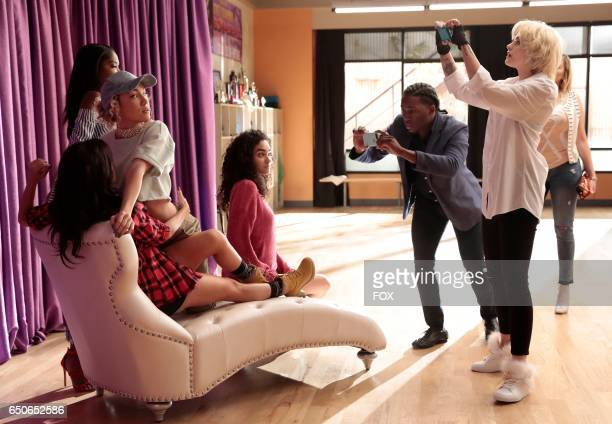 Pictured LR Guest star Sharlene Taule Jude Demorest Ryan Destiny Brittany O'Grady and guest star Paris Jackson in the 'Saving Face' episode of STAR...