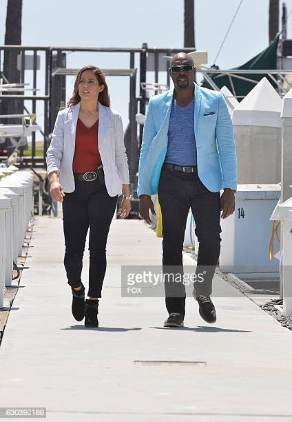 Pictured LR Jaina Lee Ortiz and Morris Chestnut in the 'Boatopsy Booty' episode of ROSEWOOD airing Thursday Oct 13 on FOX