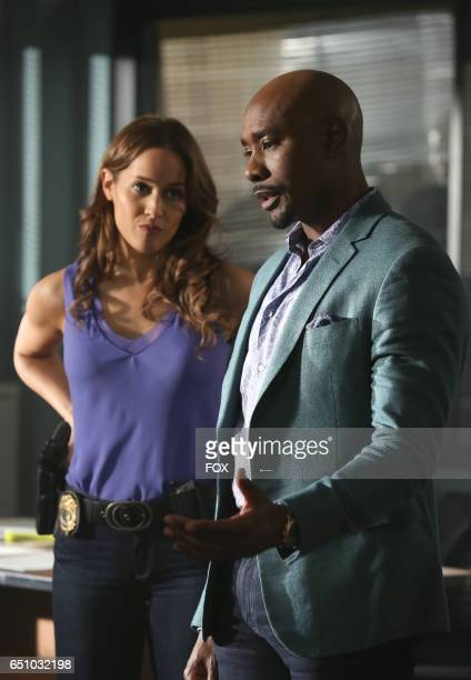 Pictured LR Jaina Lee ortiz and Morris Chestnut in the 'Clavicle Closure' episode of ROSEWOOD airing Friday Feb 10 on FOX