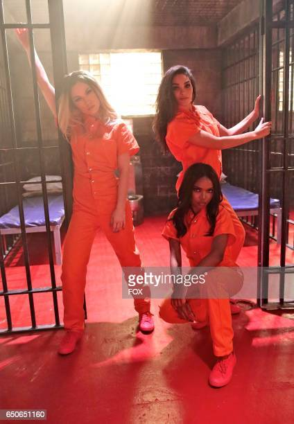 Pictured LR Jude Demorest Ryan Destiny and Brittany O'Grady in the 'Alibi' episode of STAR airing Wednesday Feb 22 on FOX