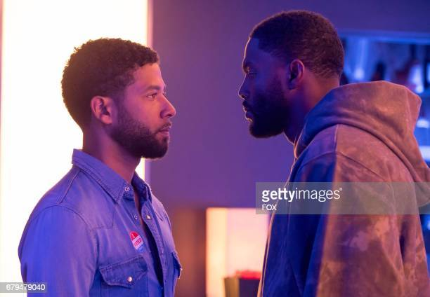 Pictured LR Jussie Smollett and guest star Tobias Truvillion in the 'The Naked Villainy' episode of EMPIRE airing Wednesday April 12 on FOX