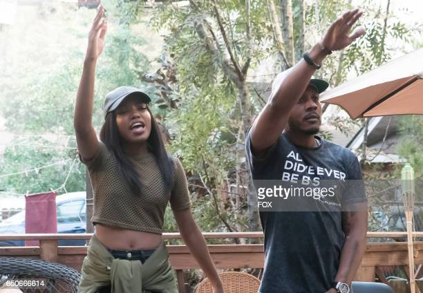 Pictured LR Ryan Destiny and guest star Sean Cross in the 'Infamous' episode of STAR airing Wednesday Feb 1 on FOX