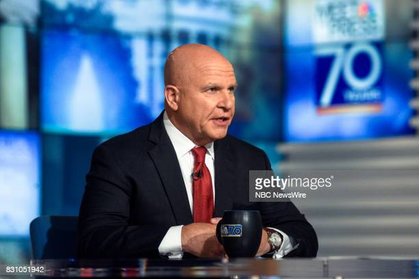 Lt Gen HR McMaster National Security Adviser to President Trump appears on 'Meet the Press' in Washington DC Sunday Aug 13 2017