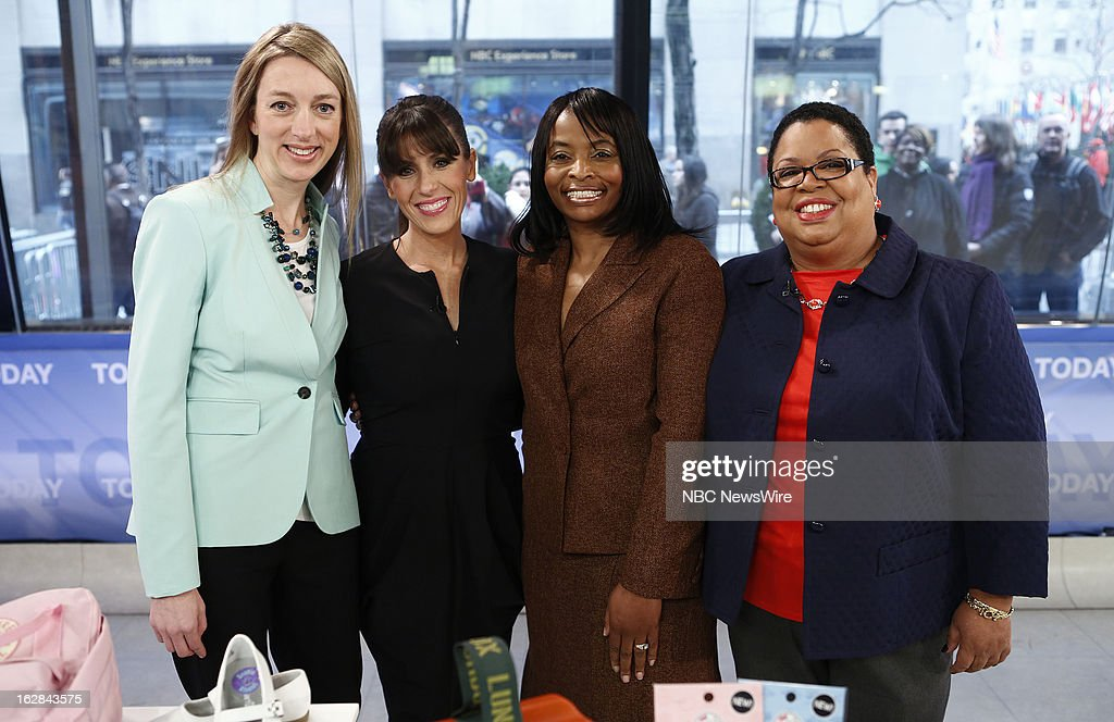 Mabel's Labels Julie Cole, Soleil Moon Frye, Gay Wheeler-Smith and Kecia Palmer-Cousins appear on NBC News' 'Today' show on February 28, 2013 --
