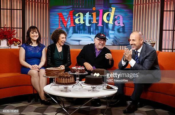 Mara Wilson Rhea Perlman Danny Devito and Matt Lauer appear on NBC News' 'Today' show