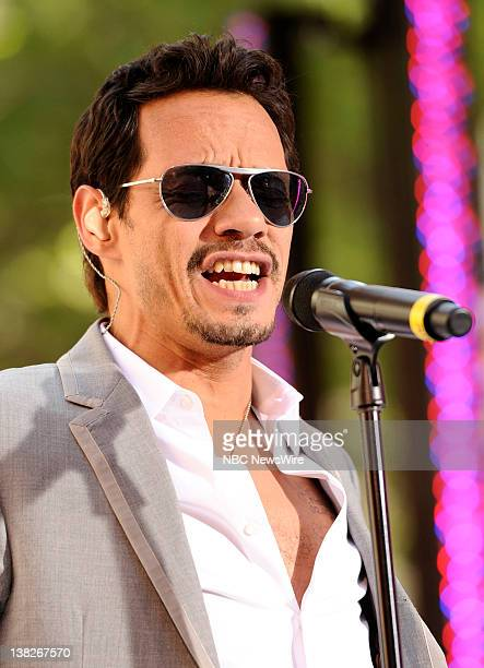 Marc Anthony performs on NBC News' 'Today' show