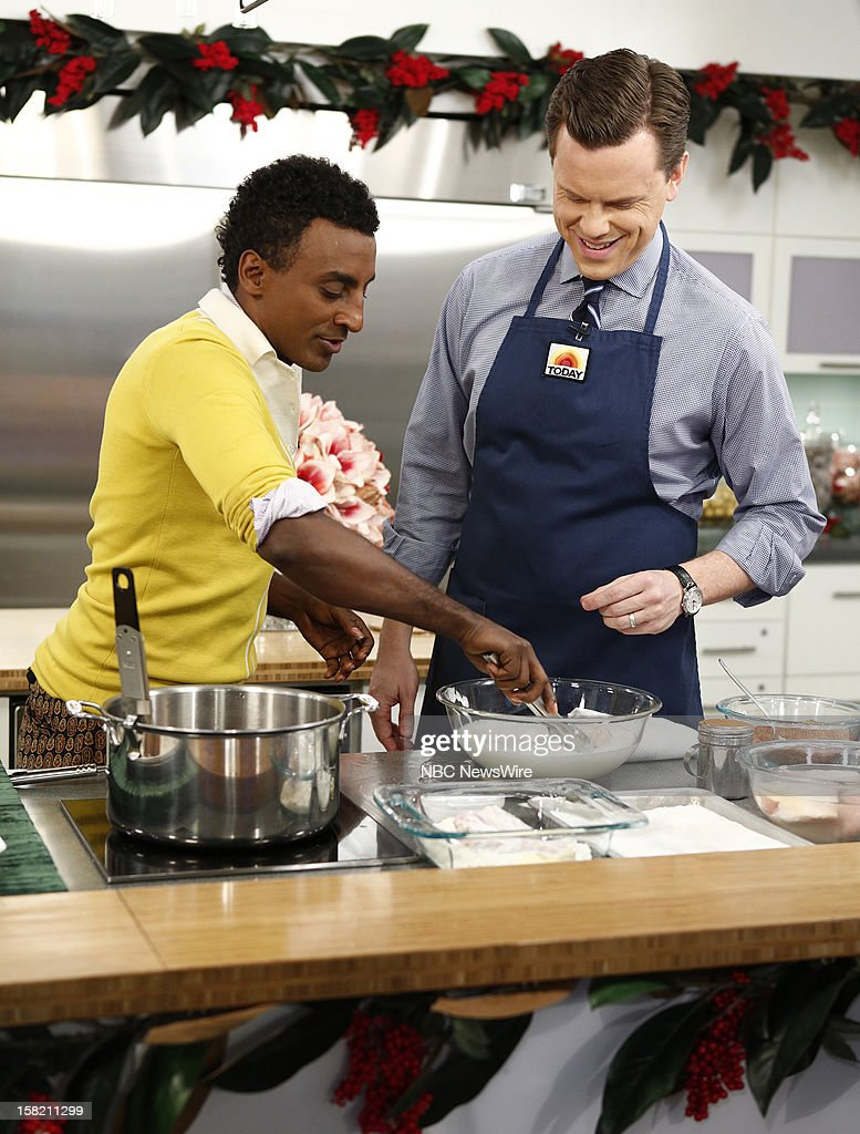 Marcus Samuelsson and Willie Geist appear on NBC News' 'Today' show --