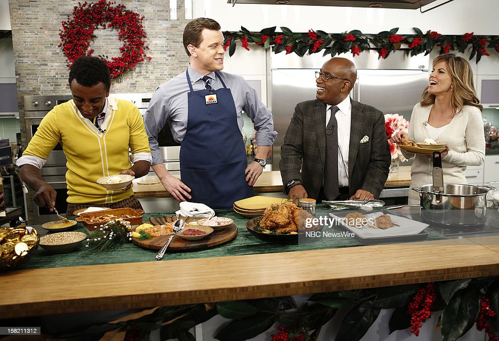 Marcus Samuelsson, Willie Geist, Al Roker and Natalie Morales appear on NBC News' 'Today' show --