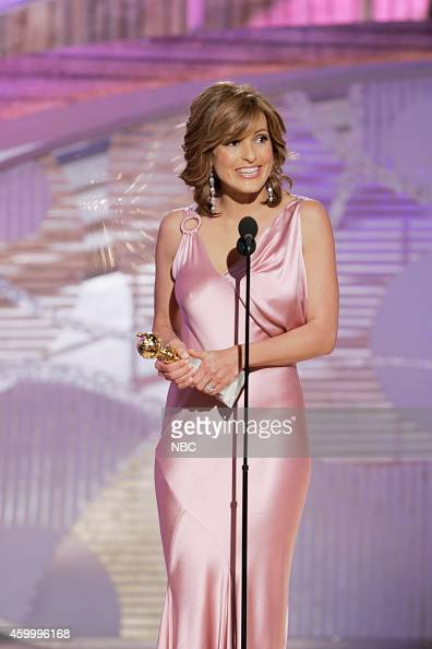 Mariska Hargitay accepts the award for Best Performance by an Actress In A Television Series Drama for 'Law Order Special Victims Unit' at the 62nd...