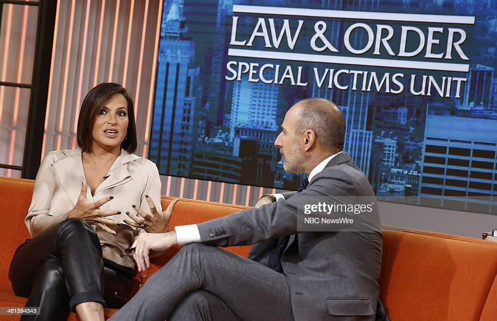 <a gi-track='captionPersonalityLinkClicked' href=/galleries/search?phrase=Mariska+Hargitay&family=editorial&specificpeople=204727 ng-click='$event.stopPropagation()'>Mariska Hargitay</a> and <a gi-track='captionPersonalityLinkClicked' href=/galleries/search?phrase=Matt+Lauer&family=editorial&specificpeople=206146 ng-click='$event.stopPropagation()'>Matt Lauer</a> appear on NBC News' 'Today' show --